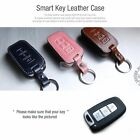 3Button Stitched Smart Key Leather Case Cover Holder Pouch HKLU-1 for HYUNDAI