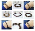 New wooden adjustable single row bracelet bangle wristband 4 Designs Unisex