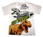 JURASSIC WORLD kids short sleeve white cotton summer t-shirt S-XL 3-8y Free Ship