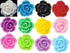 12mm Rose Earrings Colours Stud or Clip-on Childrens Girls Clipon Pierced Kids