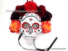 Playing card sugar skull Roses Mask Day of the Dead Spanish Halloween Costumes