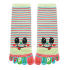 Child Stripes Letters Smiley Face Print Crew Full Toe Socks 8-9.5