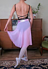 Professional adult lady or girl ballet dance long chiffon wrap skirt - New