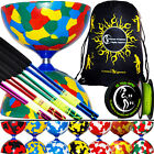 JESTER Diabolos - Pro Diabolo Set + Colour METAL Diablo Sticks + 10m String+ Bag