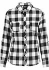 URBAN CLASSICS Camicia donna quadri Ladies Turnup Checked Flanell Shirt TB1280