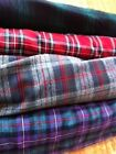 "cotton or polyviscose tartan tartan fabric 60"" wide per metre"