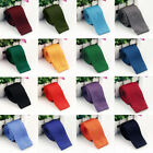 Fashion Classic Men's Necktie Solid Ties Knitted Wedding Slim Skinny Tie Party