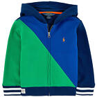 NWT Ralph Lauren Polo Boys Colorblocked Full Zip Hoodie Sweatshirt 2 2T