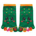 Child Dots Pattern Stretchy Ankle Length Toe Socks 7-8.5