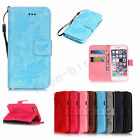 New Floral Leather Case Wallet Card Holder Cover Pouch Flip For iPhone 5 5s 6 6s