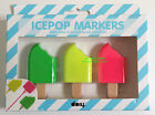 ICEPOP MARKERS - 3 Cool Colours - Ice Lolly Design