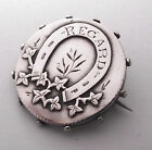 ANTIQUE SILVER LUCKY HORSESHOE REGARD BROOCH PIN