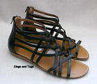 NEW CLARKS ODITI LUCKY WOMENS BLACK LEATHER SANDALS