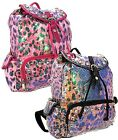 New Sequined Leopard Sparkle Dancing Bag Backpack Fashion Bag with Studs Accent