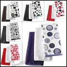 Pack of 18 Microfibre Cloths. 6 Designs Tea towels & Plain Dish cleaning cloths
