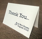 10 x Personalised Wedding Thank You Cards