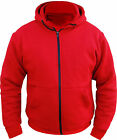 Motorcycle Hoodie Fully Reinforced  DuPont™ KEVLAR® Armid Fibre CE Armoure RED