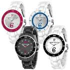 Womens Watch MISS SIXTY M60 SUGAR Polycarbonate White Black Cherry Blue