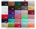 NEW Women Soft PASHMINA SILK Classic Solid SHAWL Scarf Stole WRAP