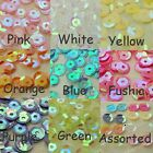 500 Round Cup Sequins AB Paillette 6mm Sewing Loose Craft Embelishment Craft DIY