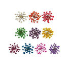 DF002 20 Pcs, 200 Pcs 15mm x 15mm Nail Art Mini Dried Flower Set-Ammi majus