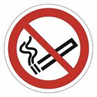 20mm - 200mm diameter of No Smoking  - Self adhesive Stickers from Label heaven