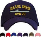 USS Carl Vinson CVN-70 Embroidered Baseball Cap - Available in 7 Colors Hat