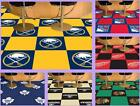 "NHL Licensed 18"" Modular Carpet Tiles 20 Tile Box Set Flooring Rug - Choose Team"