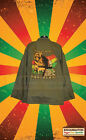 KING OF KINGS RASTAFARI LION OF JUDAH ARMY STYLE JACKET SAND COLOUR REGGAE