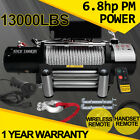 12V 3000LBS-13000LBS Electric Winch Recovery With Wireless Remote ATV Truck Boat