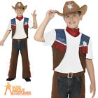 Child Texan Cowboy Costume Boys Wild West Fancy Dress Outfit New