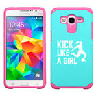 For Samsung Core / Grand Prime Shockproof Hard Case Kick Like A Girl Soccer