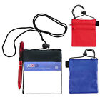 50 Conference Badges ID Card Holder Trade Show Badge Zipp...