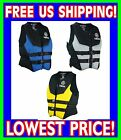 YAMAHA Neoprene USCG Approved Life Vest Jacket ALL SIZES BLUE GRAY YELLOW 2015