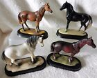 Standing Horse on Wooden Plinth, 4 designs !FREE UK P&P!