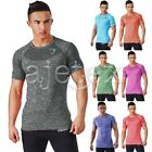 Men Stylish Gym Tops Short Sleeve Compression Muscle Bodybuilding T-Shirt M-XXL
