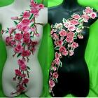 Rose Flower Motif Collar Sew on Patch Cute Applique Badge Embroidered Bust Dress