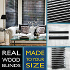 Wood venetian blind - PURE BLACK - 2 Year guarantee - Style Express
