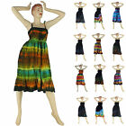 Cool Ladies Hippy Hippie Festival Party Summer Casual Everyday Tie Dye Dress