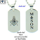 STAINLESS STEEL MASONIC  PENDANT WITH BEAD CHAIN STP#MASONIC DTAG BRAND NEW