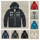New Hollister by Abercrombie Men Applique Logo Graphic Hoodie Sweat Shirts Size