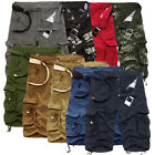 Hot Men's Casual Summer Shorts Camouflage Baggy Cargo Pants Multi-Pocket Shorts