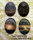 4pcs Huge The scenery of city  Oval Glass 40x30mm Cabochon 9 Options