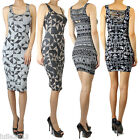 IUILE Junior Mini Knee Length Stretch Cotton Print Bodycon Dress Geo Tribal HOT