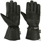 Mens Winter  Genuine Leather Motorcycle Motorbike 3M Thermal Thinsulate Gloves