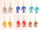 U PICK~ Steampunk Warbots Retro Robot Droid Toy Figures Figurine Dangle Earrings