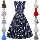 Women Ladies's Vintage Style 50s Retro Pin Up Cocktail Housewife Swing Tea Dress