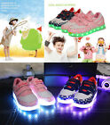Children's LED Magic USA Stars Light Athletic Luminous kids Sport Sneaker Shoes