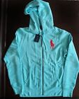 NWT Ralph Lauren L/S Blue Label Big Pony Hoodie Zip Up Sweatshirt S M L NEW $145