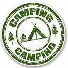 2 x Camping Vinyl Sticker Laptop Travel Luggage #4694